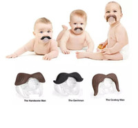 Wholesale Funny Beard Styles - Baby Novelty Funny Mustache Boy Girl Infant 8 styles silicone Pacifier Orthodontic Dummy Beard Nipples