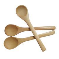 Wholesale catering tools - Wholesale- 1Set 3PCS Children Kids Home Kitchen Cooking Tool Wooden Rice Meal Scoop Catering Spoon Free Shipping
