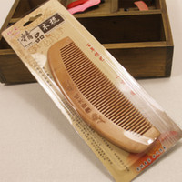 Wholesale red sandalwood carving resale online - boutique natural sandalwood carving comb pattern thickening health factory direct group of comb