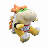 "Wholesale Super Mario Bros Soft - Hot New 6"" 15CM Bowser JR Super Mario Bros Doll Anime Collectible Plush Stuffed Dolls Kid Gifts Soft Toys"