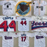Wholesale Men News - Bad News Bears #12 Tanner Boyle #3 Kelly Leak Baseball Jersey44 Joe Cooper Baseball Jersey #17 Doug Remer Milwaukee Beers Moive Jerseys