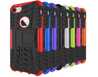 Für Iphone 7 Iphone7 4.7 '' / Plus Rüstung Rugged Square Hybrid Spinne Hard PC Plastic + Soft TPU Silikon Hülle Stand ShockProof Skin Cover
