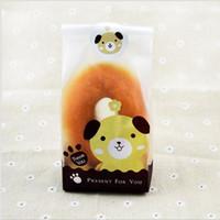 bolsas ecológicas lindas al por mayor-Eco Friendly Open-top Cute Animal Cat Design Panadería Envasado de alimentos Galletas Bolsas Envasado de alimentos OPP Bolsas de pan de plástico