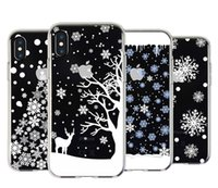 Wholesale Cell Christmas Cases Wholesale - For apple iphoneX iphone X iphone 8 7 plus 6S plus TPU box Christmas gift snow elk All-inclusive anti-drop cell phone cases protector