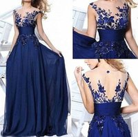 Wholesale Cake Sexy Model - Sell like hot cakes! NEW Dress Long Applique Evening Prom Gown Cocktail Party