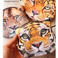 Wholesale wallets for kids - Wholesale- Women Coin Purse for Coins Children's Wallet Kids Wallet 3D Printing Lions kids purse Bag Monederos Mujer Monedas Carteira