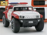Wholesale Model Toy Police Lights - 1:32 Scale Hummer Police Diecast Vehicles, Model Cars Toys With Openable Doors Pull Back Function Light Music For Boys As Gift