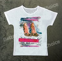 Wholesale High Heel Magazine - Wholesale-Track Ship+New Vintage Retro T-shirt Top Tee Love My Leisure Fashion Style High Heel Shoe with Reading Magazine 0997