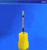 спиральные биты оптовых-3,175 биты маршрутизатора CNC торцевой фрезы спирали Каннелюр HSS Филируя резца CNC одиночные