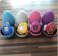 maquinas para mascotas al por mayor-Nuevo Retro Dinosaur Egg Tumbler Virtual Cyber Digital Pets Electronic Game Machine Electronic Electronic Toy Handheld Game Pet Toys