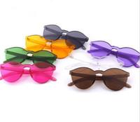 Wholesale Vintage Vogue - 20pcs Jelly color Sunglasses House of Holland X Linda Farrow Vintage Eyewear Women Vogue Glasses Oculos de sol masculino feminino R007