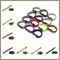 200Colors Survival Self-rescue Cord Rope Paracord Buckle Braceletes Military Bangles Homens Sport Outdoor Camping Climbing Aids Gadgets