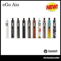 Wholesale Newest Ego - Authentic Newest Colors of Joyetech eGo AIO Kit with BF SS316-0.6ohm 1500mah eGo AIO Battery 100% Original DHL Free