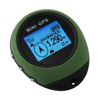 rastreador gps de viaje al por mayor-Universal Keychain PG03 Handheld Mini GPS Navegación USB Localizador de posición recargable con brújula para escalada de viaje al aire libre