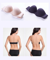 Wholesale Beautiful Underwear - Ladies invisible underwear sexy no shoulder strap wrist bra a piece of seamless wedding dress beautiful back Sexy charming A B C D cup 249