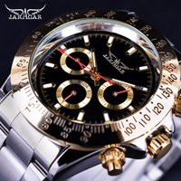Wholesale jaragar silver - Jaragar Gold Top Brand Luxury Mens Watches Bezel 3 Dial Display Series Date Designer Watch Fashion Military Automatic Mechanical Wristwatch