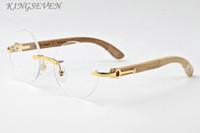 Wholesale Circle Color Lens - Fashion Round Sunglasses 2017 Men Women Luxury Brand Designer Vintage Rimless circle sunglasses Female Rivet Shades Big Wood Style