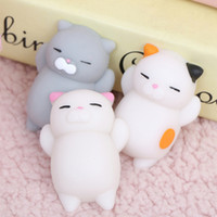 Wholesale Japan Gift Toy - Kawaii Squishies Japan Lazy Cat Mochi Decompress Squishy Squeeze Cat Healing Toy Mini Gifts Free Shipping