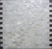 Wholesale Home mosaics tiles white subway brick mother of pearl tile kitchen backsplash bathroom mirror shower wall tub shell decor tiles
