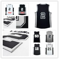 Basketball orange tim - High quality Men Leonard Tim Jersey double stitching LaMarcus Basketball Jersey Robinson Embroidery Logos fast