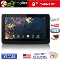 Wholesale Allwinner A13 Cortex A8 - Free Shipping 9inch Android 4.0 Allwinner A13 Cortex A8 512MB 8GB Capacitive Screen Tablet PC Dual Camera