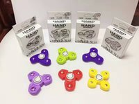 Wholesale Pyramid Retail - Newest HandSpinner Fingertips Spiral Fingers Fidget Spinner EDC Hand Spinner Human Pyramid New gameplay Fidgets Toys Gyro Retail Box DHL