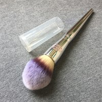 Wholesale Blender Lid - IT Brushes for ULTA Live Beauty Fully Brushes 225 Complexion Powder -Tapered Hair with lid- Beauty Makeup Brushes Blender