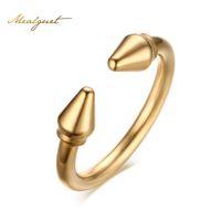 ingrosso migliori disegni di nozze-Meaeguet Cool party rings per le donne apertura design migliore amico anello in acciaio inox anello nuziale accessori femminili R-161G