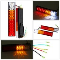 Wholesale Led Stop Trailer Lights - LED Stop Rear Tail Brake Reverse Light Turn Indiactor 12V 24V ATV Truck Trailer Lamp