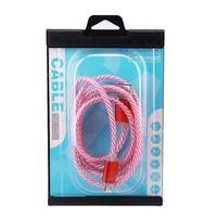 cable micro sonrisa al por mayor-Led luz visible Micro USB 2.0 Cable de cargador para Samsung Data Sync Carga Smile Micro Adaptador de cable para Samsung S7 S6 S6 PLUS HTC Huawei