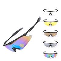 taktische linsen großhandel-Radfahren Brillen Objektiv Skibrille Outdoor Sports Fahrrad Sonnenbrille Biegsam Und Hart Reiten Militär Fans Taktische Brille 6 8yt F