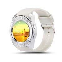 eu assisto venda por atacado-V8 Relógio Inteligente Bluetooth Relógios Android com Câmera de 0.3 M MTK6261D DZ09 GT08 Smartwatch para telefone Android com Pacote de Varejo I-BS