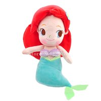 Wholesale Little Mermaid Princess Toys - Wholesale- New The Little Mermaid Ariel Princess Plush Dolls 20CM Kids Stuffed Toys For Children Gifts