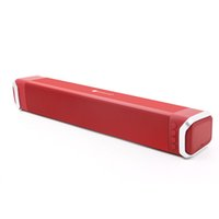 Wholesale Cycling Radio - Sound Horn Soundbar Speaker Bar Echo Wall Wireless Bluetooth loudspeaker box support Cycle charge TV home theater long sound - red