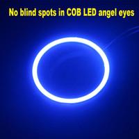 Wholesale Hid Driving Fog Lights - 2X HID Blue COB LED for Angel Eyes Halo Ring Headlight Fog Housing Lamp 12v-24v For Daytime Driving Light DRL Bulbs
