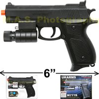 "Wholesale Toy Guns Lasers - NEW 6"" BERETTA AIRSOFT PISTOL GUN POINTING LASER INCLUDED UKARMS M777R 6MM BB"