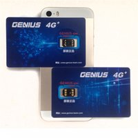 Wholesale Unlocking Card Genius SIM G Unlock IOS Version for iOS10 US T Mobile Sprint Fido DoCoMo Other Carriers LTE G G