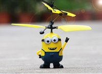 Wholesale Despicable Minion Doll Plastic - Remote Control RC Helicopter Flying Despicable Me Minion Quadcopter Drone Ar.drone Kids Toy VS Fairy Doll x5c