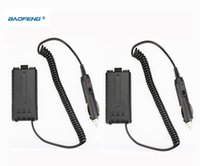 Wholesale Cheap Car Battery Chargers - Wholesale- Cheap 2pcs BAOFENG UV-5R Car Charger For UV 5R UV-5RB UV-5RA Two Way Radio CB Walkie Talkie Battery Eliminator UV5R Accessories
