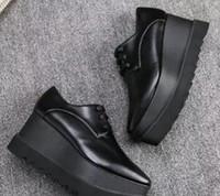 Wholesale Ivory Lace Wedding Wedges - 2017 New wholesale Stella Mccartney Oxford Shoes Wedge Platform Women shoes Fashion Elyse