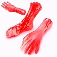 Wholesale Halloween Props Arm - Halloween returns Funny Toys Halloween Prop Horrible bleeding Broken Limbs Fingers Legs Arm Feet Tricky Toys For Party Decorations Gifts