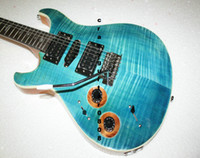 Wholesale Leaves String Lights - Left Handed guitars light blue flame Electric Guitar New Arrival guitars from China best hot