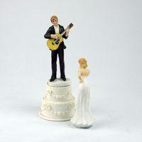 Wholesale Handicraft Cloth - Cake decoration wedding products wedding gift resin handicrafts jump dance doll cake guitar