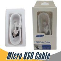 ücretli kablo mobil toptan satış-Mikro USB Veri Kablosu Android Şarj Kablosu Sync Veri Şarj Şarj Kablosu Adaptörü Samsung LG Cep Telefonu Perakende Paketi ile