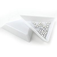 Wholesale Mobile Beauty Tools - Wholesale- New hot 20pcs DIY Tool Rhinestone Diamond Box Small Receive Plastic Tray  Plate For Nail Art Mobile Beauty Jewelry Beads