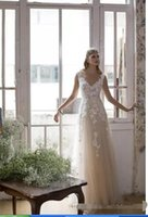 Wholesale Wholesale Plus Size Bridal Gown - floral Lace wedding Dress A Line Champagne and ivory bridal gowns special design New Custom Made gowns