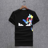 Wholesale Tshirt Woman Brand - 2017 luxury brand summer new style t shirt Unisex Women Men Little monsters print men's tshirt homme T-shirt mens brand tee shirt