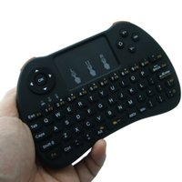android keyboard qwerty touch großhandel-2,4 GHz Wireless H9 Fly Air Maus Mini QWERTY Tastatur mit Touch Pad für Android TV Box Fernbedienung Gamepad Controller