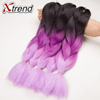 Wholesale Cheap Boxes Hair - cheap 24''100g ombre kanekalon braiding hair Extension synthetic braiding hair for Box braids senegalese twist crochet braids