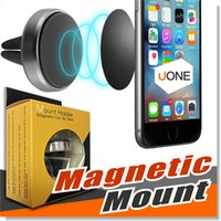 Wholesale magnet drive - Car Mount Air Vent Magnetic Universal Car Mount Phone Holder for iPhone 7 Plus One Step Mounting Reinforced Magnet Easier Safer Driving